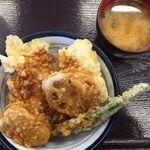 天丼てんや - 鶏・つくね天丼(2015/10/04撮影)