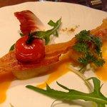 フリジェリオ - 帆立貝のソテー人参とオレンジの香りをのせて