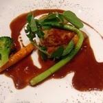 フリジェリオ - ホロホロ鶏のローストポルト酒とバルサミコのソースで・・