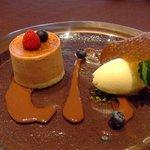 フリジェリオ - 赤い果実のシブーストソルベピナコラーダ添え