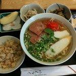 ゆんたく - 定食(そば大盛り/1,000円)