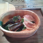 魚歌家 - 鮎の姿寿司・茗荷の寿司