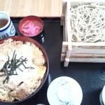 42704776 - カツ丼セット(蕎麦大盛サービス)