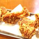 泡盛と串カツのお店 がきんち - 夜のトリハイセットの唐揚げ