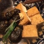 串やき・魚 新宿宮川 - 茄子と厚揚げの煮物