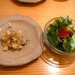 4271850 - 副菜2品(サラダ、小鉢:マッシュポテト)◎2010/6
