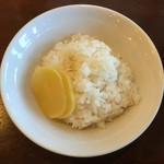 ラーメンさんぱち - 料理写真:ライスふっくら柔らか。