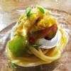 ドンブラボー - 料理写真:自家農園トマトの冷製スパゲッティ  ~生ウニ、水牛のモッツァレラ~