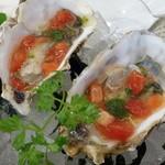 ビストロ ダイア - 広島のカキはトマトとバジルジュレで