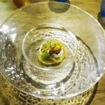 ドンブラボー - 自家農園トマトの冷製スパゲッティ  ~生ウニ、水牛のモッツァレラ~
