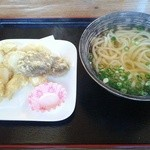 Goemonudon - エリンギ天うどん560円