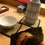 42718499 - 帆立の磯辺焼きと日本酒♡