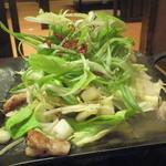 ぶあいそ - 博多もつ鉄板・葱塩(980円)