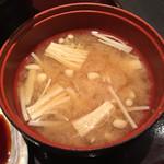 42727146 - ランチの味噌汁