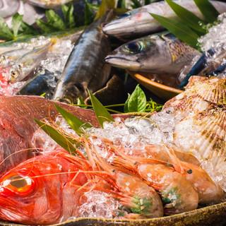 産直の新鮮魚貝