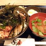 SUN - 焼鶏丼ご飯大盛り