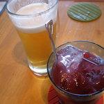 バル居酒屋 TWO SPOON - 生ビールとサングリアで乾杯♪