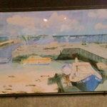 沖縄料理 きらく - 多良間島 昔の港の絵