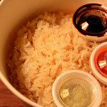 シンガポール マジック - チキンライス(海南鶏飯)の二段め