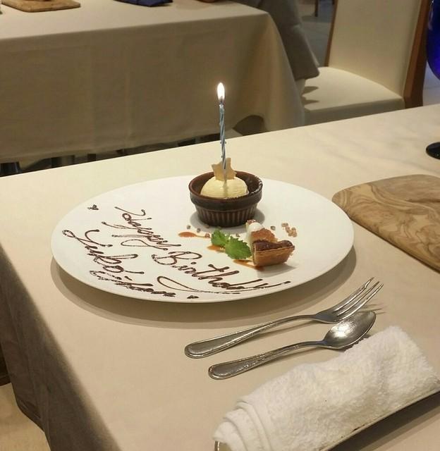 リストランテ アズーリ - お誕生日メッセージをデザートプレートに!