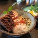 穀菜健美 cafe - よくばりセットのアイス