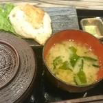 42737945 - 大山鶏刺身ステーキセット