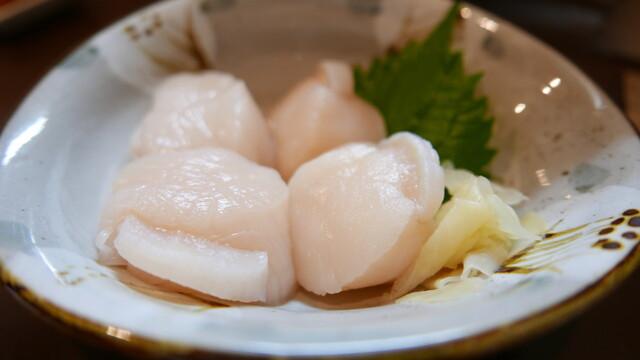 よねさん - ホタテ食べ比べ500円くらい。