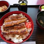 竹林亭 - うなぎ丼定食(特上)1900円