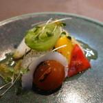 和食カフェ 風瑠 - アオリイカと野菜の炙り 柚子胡椒ソース