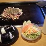 お好み焼き わいわい倶楽部 - 69セット(お好み焼き おにぎり ミニサラダ 690円)