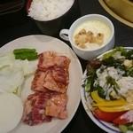 焼肉KUTARO - ランチのハラミ定食by arumona