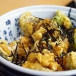 知夫の里 - サザエ天丼
