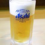 定食専門店いててや - 生ビールは定食にセットなら¥100引きで¥380☆♪