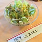 42757969 - 生野菜のサラダです(^^)…ドレッシングがさっぱりしていて旨し!!