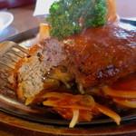 ハンバーグのみき - 肉汁がなく肉の旨みも普通