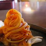 ハンバーグのみき - 付合せのスパゲティーの味付けはケチャップをチョイス