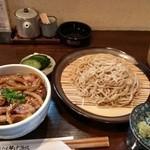 吾里 - 戦国ハーぶ~丼ともり蕎麦のセット。