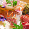 かしわ屋 - 料理写真:刺身盛り合わせ(希少部位のエクボ・ズリ・心臓・肝・ささみ等)