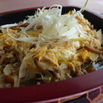 れんげ草 - 秋の限定メニュー ひき肉と卵の卵とじ丼