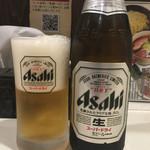 麺屋 侍 - 瓶ビール500円