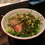 麺屋社中 - ミニローストビーフ丼