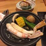 倉敷甲羅本店 - ズワイガニステーキ。別の御膳。