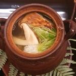 露庵 菊乃井 木屋町店 - 松茸と鱧の土瓶蒸し