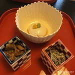 柚木元 - 茸、和え物、胡麻豆腐