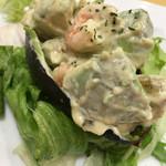 ステーキハウス 松木 - 海老とアボカドサラダ