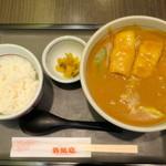 若鯱家 - 料理写真:カレーうどんと白御飯セット