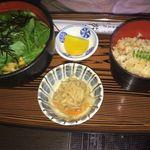 おそば処 葵 - 壬生菜丼セット