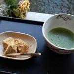ひとこえ - お抹茶とわらび餅のセット