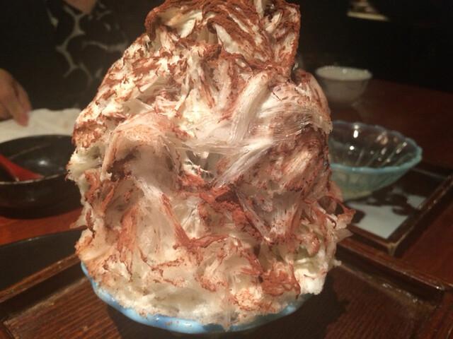 よろにく - 2015/10_本邦初?ブルーチーズのかき氷