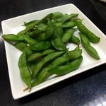 そば処 あんどう - 茹でたての枝豆